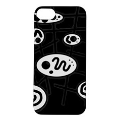 Black and white crazy abstraction  Apple iPhone 5S/ SE Hardshell Case