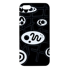 Black and white crazy abstraction  iPhone 5S/ SE Premium Hardshell Case
