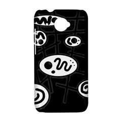 Black and white crazy abstraction  HTC Desire 601 Hardshell Case