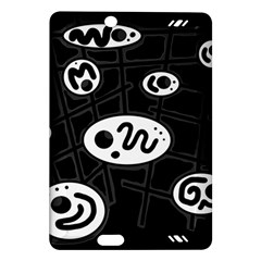 Black and white crazy abstraction  Amazon Kindle Fire HD (2013) Hardshell Case