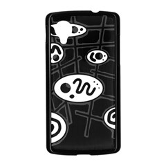 Black and white crazy abstraction  Nexus 5 Case (Black)