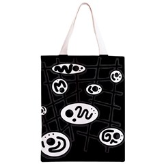 Black and white crazy abstraction  Classic Light Tote Bag