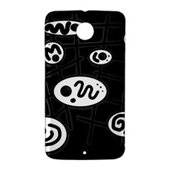 Black and white crazy abstraction  Nexus 6 Case (White)