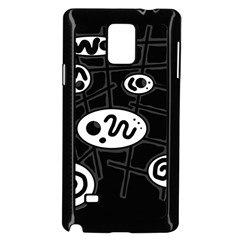 Black and white crazy abstraction  Samsung Galaxy Note 4 Case (Black)