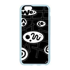 Black and white crazy abstraction  Apple Seamless iPhone 6/6S Case (Color)