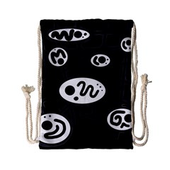 Black and white crazy abstraction  Drawstring Bag (Small)