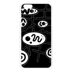Black and white crazy abstraction  Apple Seamless iPhone 6 Plus/6S Plus Case (Transparent)