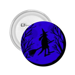 Halloween witch - blue moon 2.25  Buttons