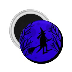 Halloween witch - blue moon 2.25  Magnets