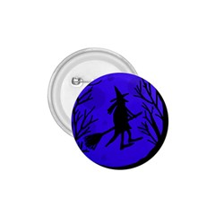 Halloween witch - blue moon 1.75  Buttons