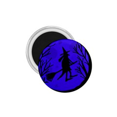 Halloween witch - blue moon 1.75  Magnets
