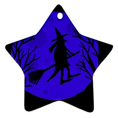 Halloween witch - blue moon Ornament (Star)
