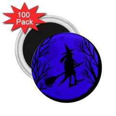 Halloween witch - blue moon 2.25  Magnets (100 pack)