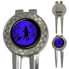 Halloween witch - blue moon 3-in-1 Golf Divots