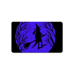 Halloween witch - blue moon Magnet (Name Card)
