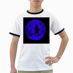Halloween witch - blue moon Ringer T-Shirts