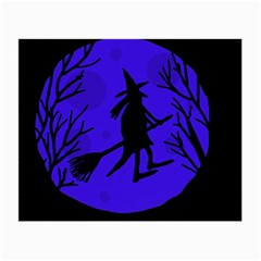 Halloween witch - blue moon Small Glasses Cloth