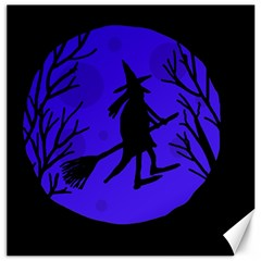 Halloween witch - blue moon Canvas 16  x 16