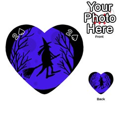 Halloween witch - blue moon Playing Cards 54 (Heart)