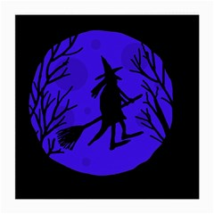 Halloween witch - blue moon Medium Glasses Cloth (2-Side)