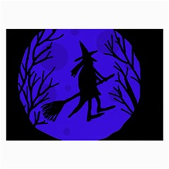 Halloween witch - blue moon Large Glasses Cloth (2-Side)