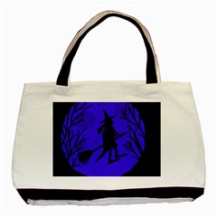 Halloween witch - blue moon Basic Tote Bag (Two Sides)