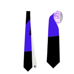 Halloween witch - blue moon Neckties (Two Side)