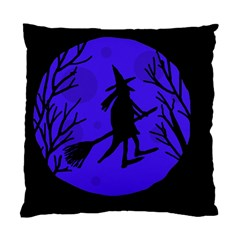 Halloween witch - blue moon Standard Cushion Case (Two Sides)