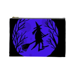Halloween witch - blue moon Cosmetic Bag (Large)