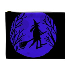 Halloween witch - blue moon Cosmetic Bag (XL)
