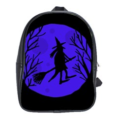 Halloween witch - blue moon School Bags(Large)