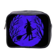 Halloween witch - blue moon Mini Toiletries Bag 2-Side