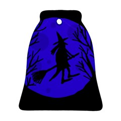 Halloween witch - blue moon Ornament (Bell)