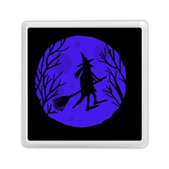 Halloween witch - blue moon Memory Card Reader (Square)