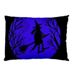 Halloween witch - blue moon Pillow Case (Two Sides)