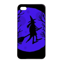 Halloween witch - blue moon Apple iPhone 4/4s Seamless Case (Black)