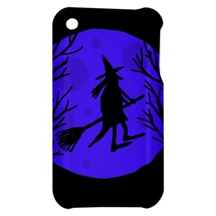Halloween witch - blue moon Apple iPhone 3G/3GS Hardshell Case