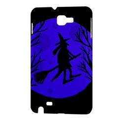 Halloween witch - blue moon Samsung Galaxy Note 1 Hardshell Case