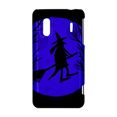 Halloween witch - blue moon HTC Evo Design 4G/ Hero S Hardshell Case
