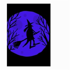 Halloween witch - blue moon Small Garden Flag (Two Sides)