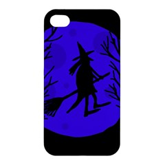 Halloween witch - blue moon Apple iPhone 4/4S Premium Hardshell Case