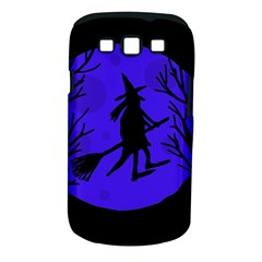 Halloween witch - blue moon Samsung Galaxy S III Classic Hardshell Case (PC+Silicone)