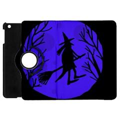 Halloween witch - blue moon Apple iPad Mini Flip 360 Case