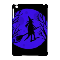 Halloween witch - blue moon Apple iPad Mini Hardshell Case (Compatible with Smart Cover)