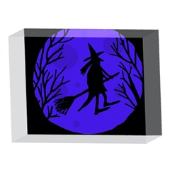 Halloween witch - blue moon 5 x 7  Acrylic Photo Blocks