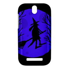 Halloween witch - blue moon HTC One SV Hardshell Case