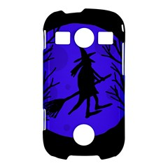 Halloween witch - blue moon Samsung Galaxy S7710 Xcover 2 Hardshell Case