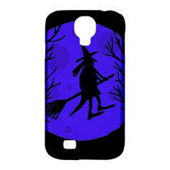Halloween witch - blue moon Samsung Galaxy S4 Classic Hardshell Case (PC+Silicone)