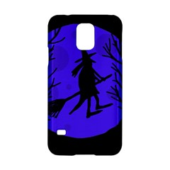 Halloween witch - blue moon Samsung Galaxy S5 Hardshell Case