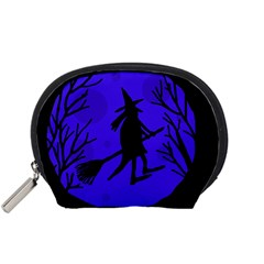 Halloween witch - blue moon Accessory Pouches (Small)